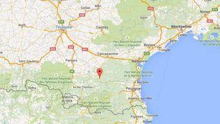 Capture d'écran de Google Maps pointant Quillan (Aude) où une Néerlandaise de 19 ans est morte après avoir été emportée par les eaux, annonce la gendarmerie le 11 juin 2015. (GOOGLE MAPS)