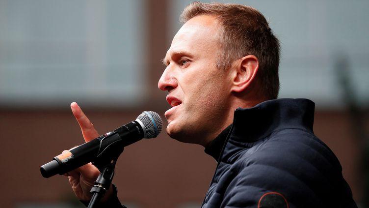 L'opposant politique russeAlexeï Navalny, à Moscou (Russie), le 29 septembre 2019. (SHAMIL ZHUMATOV / REUTERS)