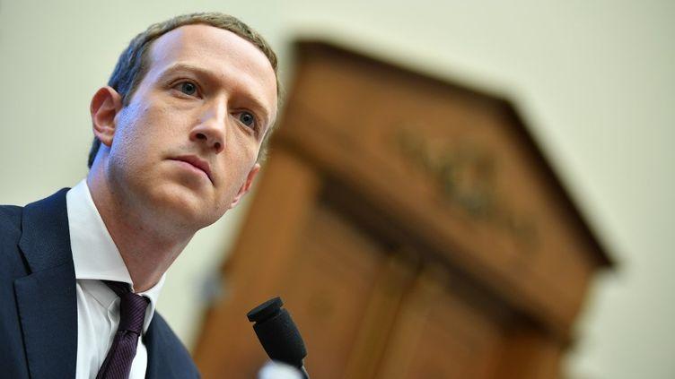 Le patron de Facebook, Mark Zuckerberg, le 23 octobre 2019 à Washington (Etats-Unis). (MANDEL NGAN / AFP)