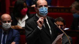 Le Premier ministre Jean Castex à l'Assemblée nationale le 20 octobre 2020. (CHRISTOPHE ARCHAMBAULT / AFP)