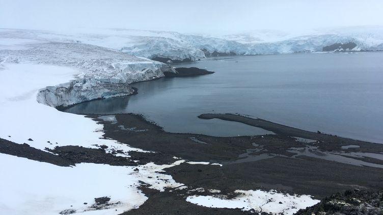 Le glacier Collins, en Antarctique ouest, le 2 février 2018. (MATHILDE BELLENGER / AFP)