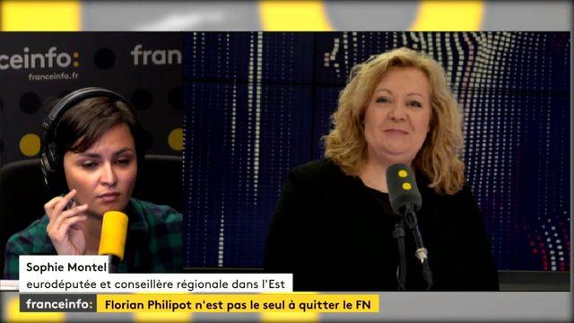 """Sophie Montel : """"oui je pars aujourd'hui"""" du Front national"""