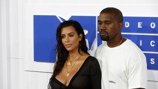 Kim Kardashian et Kanye West, le 28 août 2016 à New York (Etats-Unis). (HUBERT BOESL / DPA / AFP)