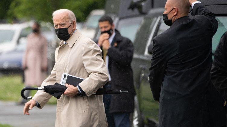 Le président américain Joe Biden quitte la Maison Blanche pour aller passer le week-end à Camp David (Etats-Unis), le 7 mai 2021 (SAUL LOEB / AFP)
