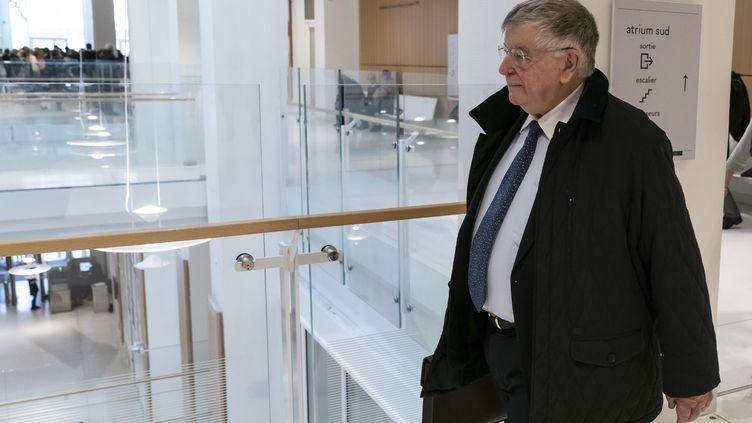 L'ancien PDG de France Télécom, Didier Lombard, au tribunal de Paris, le 23 mai 2019. (LIONEL BONAVENTURE / AFP)