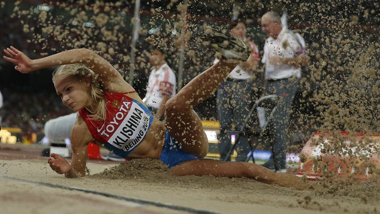 Darya Klishina pourra finalement participer aux JO de Rio (ADRIAN DENNIS / AFP)