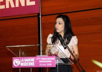 Sophia Chikirou le 29 juin 2008 aux premières rencontres nationales dela Gauche moderne,le particrée par le maire de MulhouseJean-Marie Bockel (ex-PS). (DR)