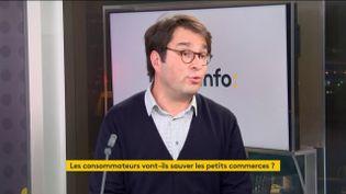 Vincent Chabault, sociologue, invité de franceinfo, lundi 16 novembre 2020. (FRANCEINFO / RADIOFRANCE)