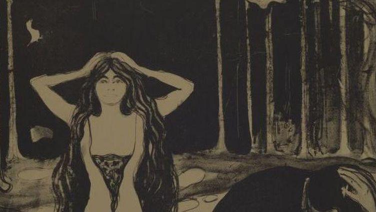 "Détail d'une lithographie d'Edvard Munch, ""Asche""(1899), découverte chez Cornelius Gurlitt.  (STAATSANWALTSCHAFT AUGSBURG / AFP)"