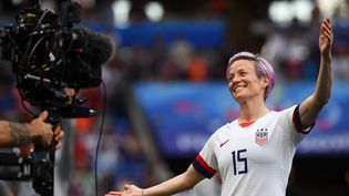 Megan Rapinoe le 7 juillet 2019, lors de la Coupe du monde féminine de football. (FRANCK FIFE / AFP)