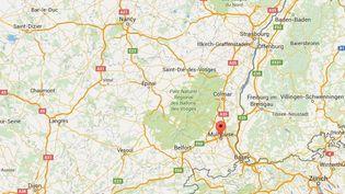 La police a libéré un garçon de huit ans séquestré par son père depuis trois ans,le 9 octobre 2015 à Mulhouse (Haut-Rhin). ( GOOGLE MAPS)