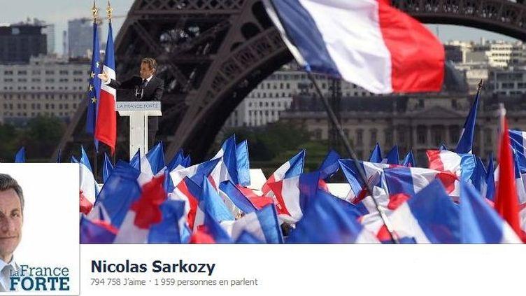 """L'ancien chef de l'Etat n'avait rien posté sur sa page """"La France forte"""" depuis sa défaite à l'élection présidentielle, le 6 mai. (FACEBOOK)"""
