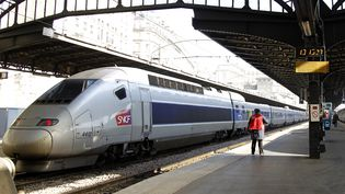 Un train à quai, gare de l'Est, à Paris, le 3 avril 2017. (CHARLES PLATIAU / REUTERS)