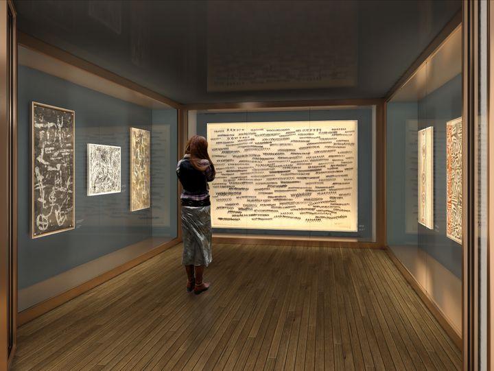Nouvelle salle des peintures du musée (dUCKS scéno)