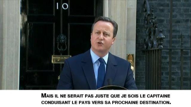 Le Premier ministre britannique a réagit à la suite des résultats du référendum sur le Brexit, vendredi 24 juin 2016.