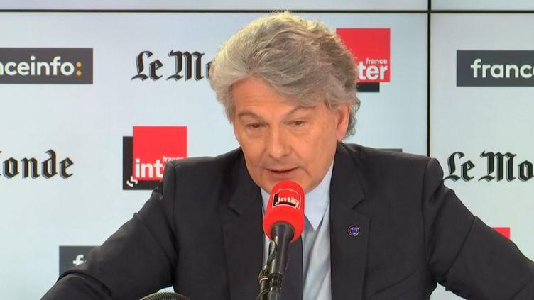 Thierry Breton, sur France Inter, le 8 mars 2020. (FRANCEINFO)