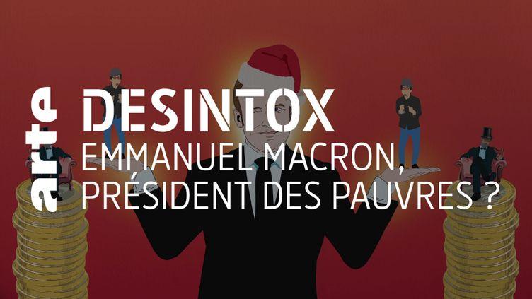 Non, le pouvoir d'achat des plus pauvres n'aura pas mieux progressé que celui des plus riches sous le quinquennat d'Emmanuel Macron (ARTE/2P2L)