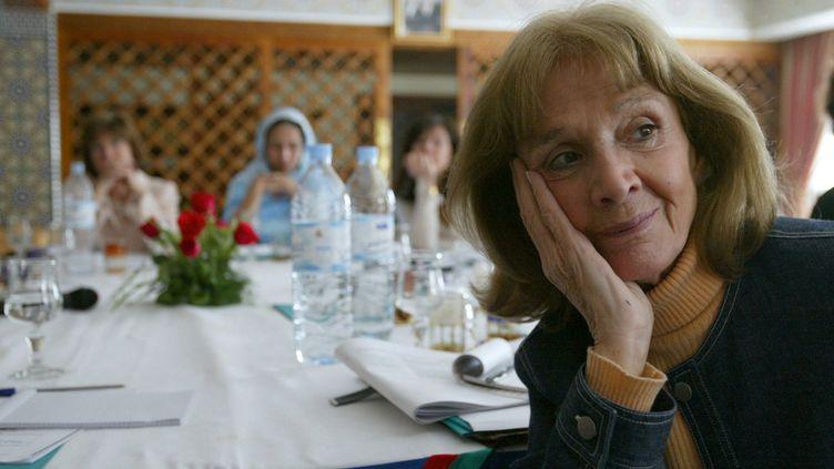 L'avocate française Gisele Halimi, le 6 mars 2004, à Fès, au Maroc. (ABDELHAK SENNA / AFP)