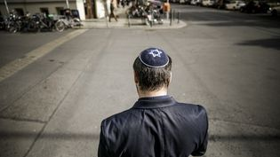 Mike Samuel Delberg, le représentant de la communauté juive de Berlin, le 10 octobre 2019. (CARSTEN KOALL / DPA / AFP)