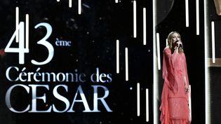 Vanessa Paradis, lors de la 43e cérémonie des César, le 2 mars 2018 à Paris. (PHILIPPE LOPEZ / AFP)