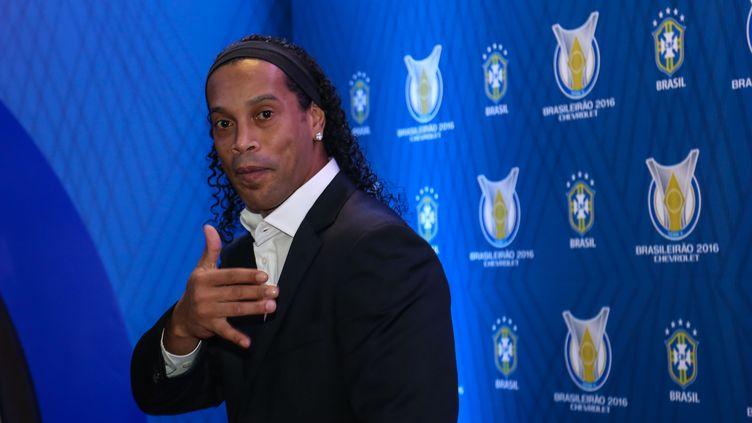 Le joueur de football, Ronaldinho (VANESSA CARVALHO / BRAZIL PHOTO PRESS)