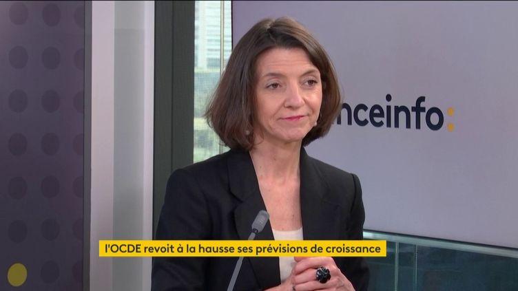 Laurence Boone, cheffe économiste de l'OCDE, invitée de franceinfo le 9 mars 2021. (FRANCEINFO)