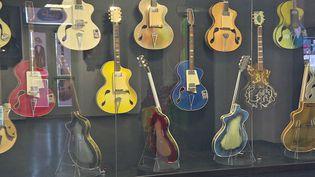 """""""Guit'Art Légendes"""", exposition des guitares créées par le luthier italien Wandré, au château de la Buzine à Marseille (France 3 PACA)"""