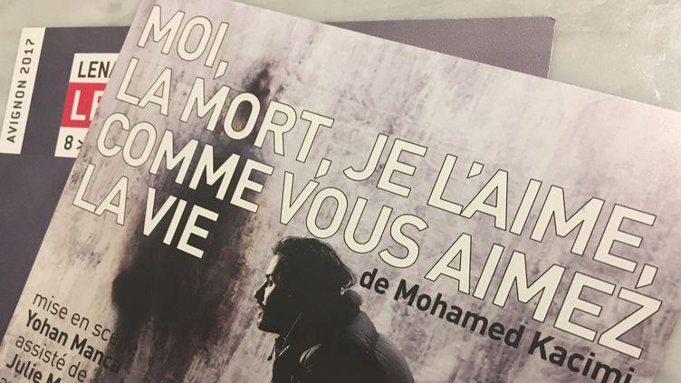 """La pièce """"Moi, la mort, je l'aime, comme vous l'aimez la vie"""" était programmée du 6 au 11 juillet au festival off d'Avignon.  (Sophie Jouve / Culturebox)"""