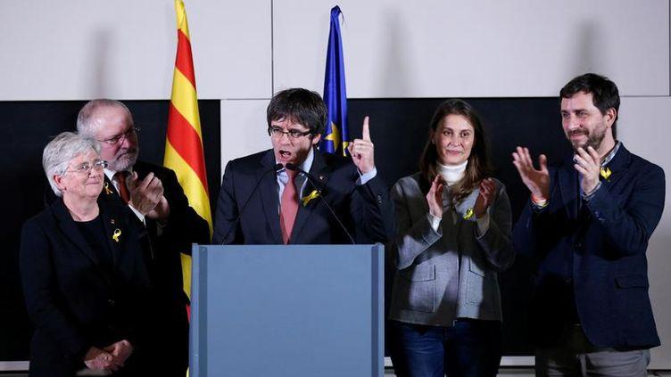 CarlesPuigdemont le 21 décembre 2017 à Bruxelles, en Belgique. (FRANCOIS LENOIR / REUTERS)