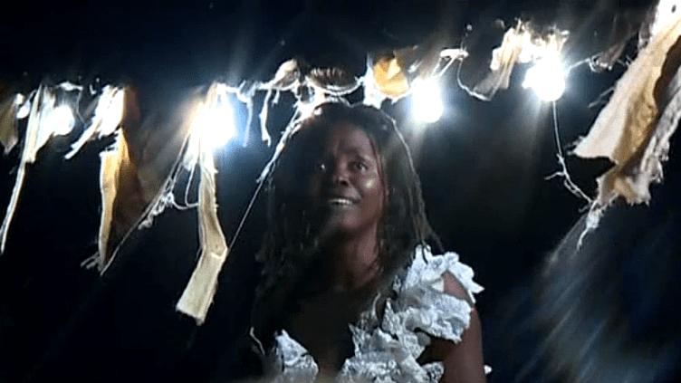 Une prêtresse vaudou surgit dans la nuit chalonnaise pour mettre le public en garde.  (France 3)