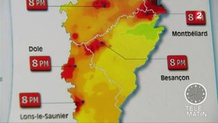 La carte de la pollution en Franche-Comté (FRANCE 2)