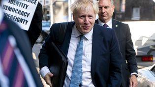Boris Johnson, à Londres, le 23 juillet. (NIKLAS HALLE'N / AFP)