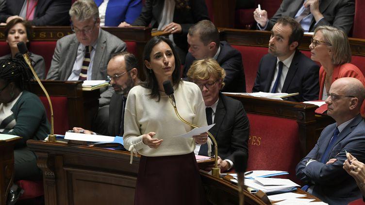 Brune Poirson s'exprime devant l'Assemblée nationale, à Paris, le 3 décembre 2019. (LIONEL BONAVENTURE / AFP)