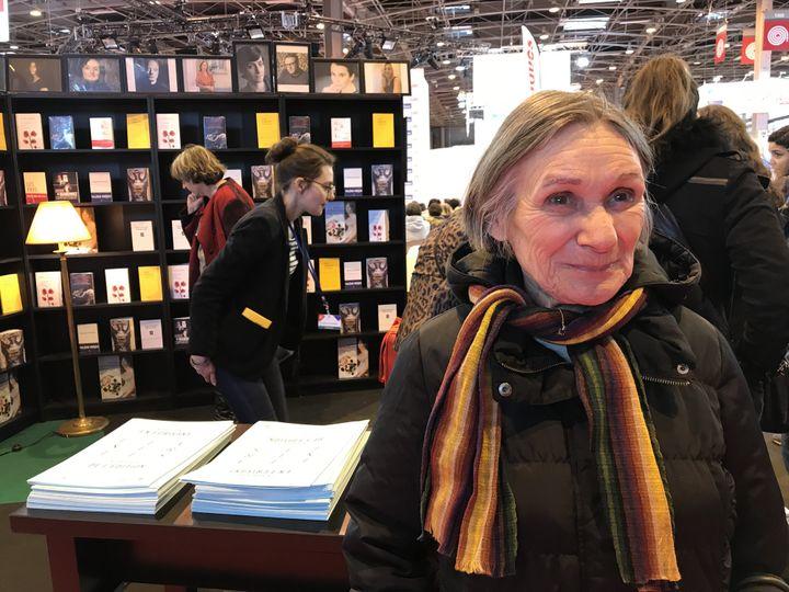 Madeleine, sur le stand des Flâneries littéraires du salon Livre Paris  (Laurence Houot / Culturebox)