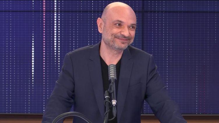 "Richard Malka, l'avocat de Charlie Hebdo était l'invité du ""8h30franceinfo"", lundi 30 novembre 2020. (FRANCEINFO / RADIOFRANCE)"