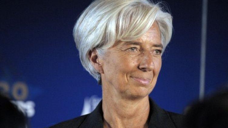Christine Lagarde au G20, à Paris, le 15 octobre. (ERIC PIERMONT / AFP)