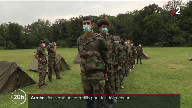 Armée : des lycéens en difficulté en stage avec les militaires