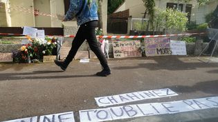 Hommage à Chahinez Daoud, brûlée vive par son mari mardi 4 mai 2021. (THOMAS COIGNAC / RADIO FRANCE)
