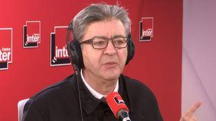 Jean-Luc Mélenchon était l'invité de France Inter lundi 2 mars. (FRANCE INTER)