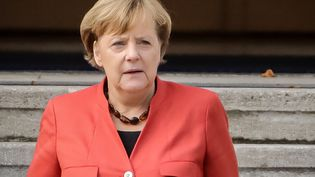 Angela Merkel à Berlin (Allemagne), le 20 novembre 2017. (MAURIZIO GAMBARINI / DPA / AFP)