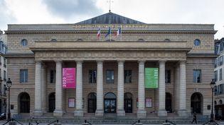 Le théâtre de l'Odéon à Paris, le 1er janvier 2021. (RICCARDO MILANI / HANS LUCAS VIA AFP)