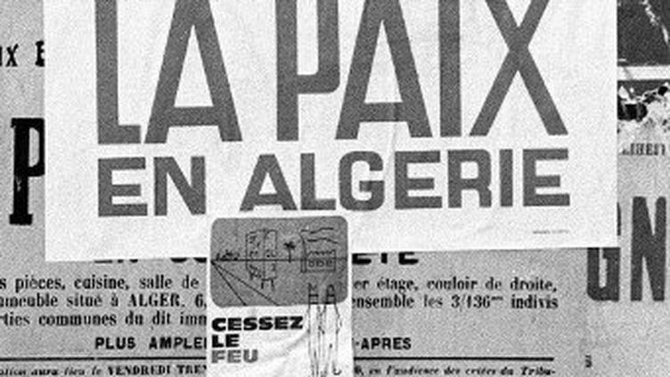 Photo prise à Alger le 20 mars 1962 au lendemain de la proclamation du cessez-le-feu. (AFP)