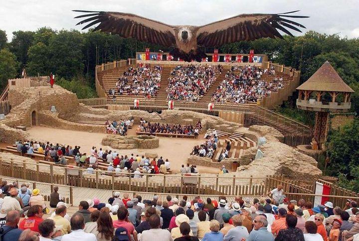 Le spectacle de fauconnerie au Puy du Fou.  (FRANK PERRY / AFP)