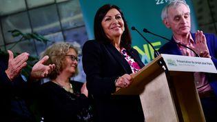 Anne Hidalgo, en campagne, le 06 février 2020 à Paris. (MARTIN BUREAU / AFP)