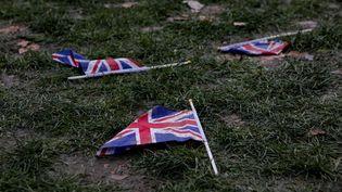 Un drapeau du Royaume-Uni à Londres, le 1er février 2020. (MAIRO CINQUETTI / NURPHOTO / AFP)