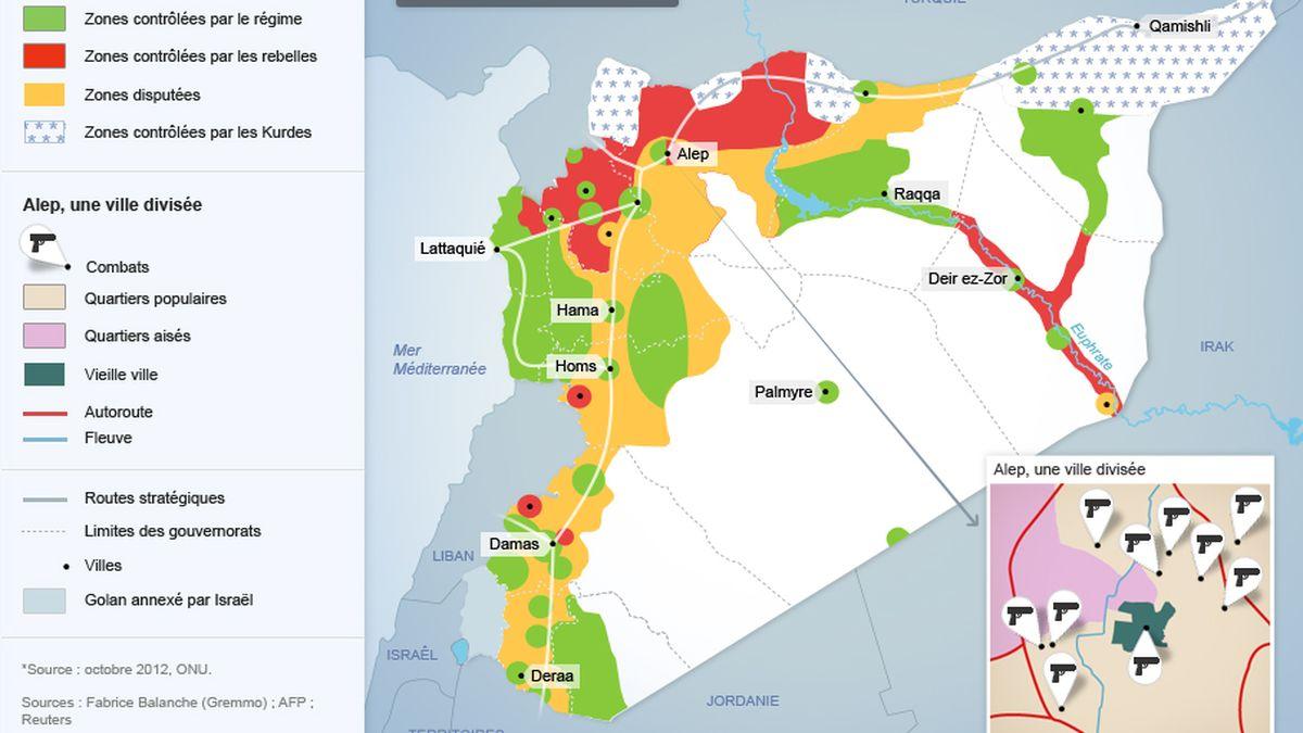 Syrie Deux Ans Et Demi De Conflit En Six Cartes
