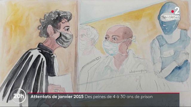 Attentat de janvier 2015 : des peines allant jusqu'à 30 ans de prison
