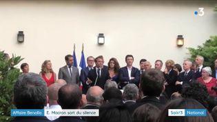 Emmanuel Macron devant son camp (France 3)