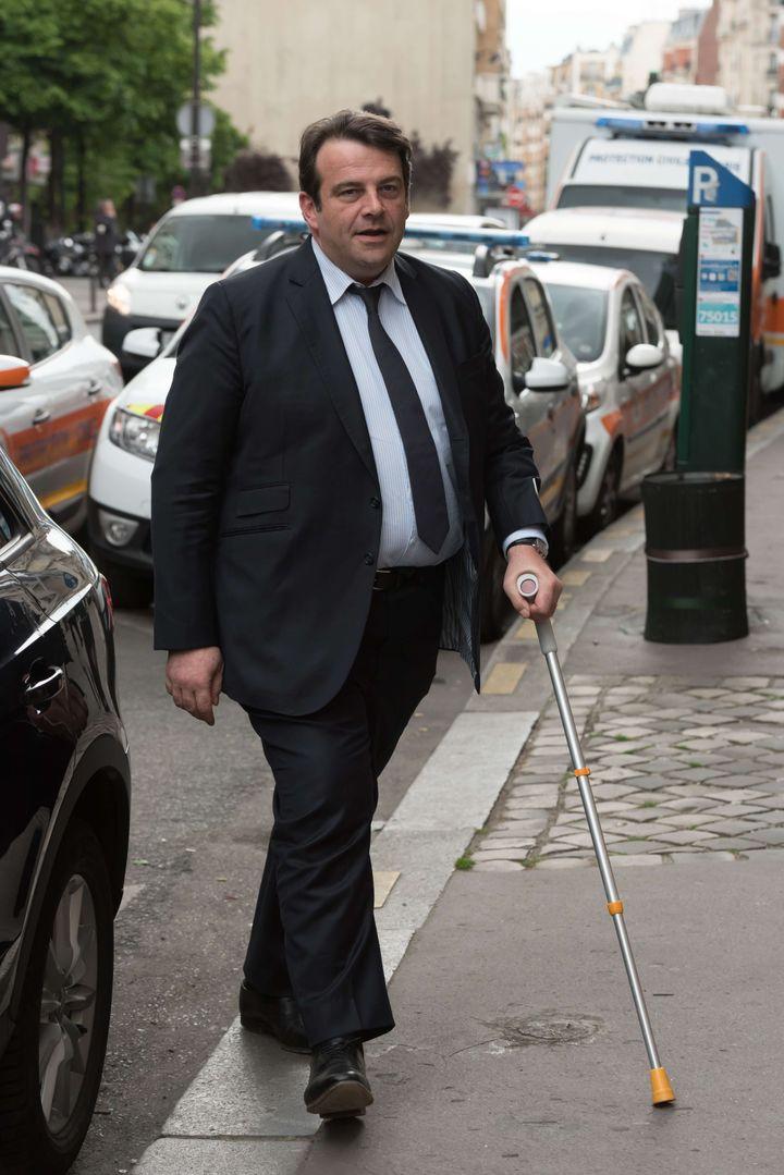 Thierry Solère, à Paris, le 2 mai 2017. (JACQUES WITT / SIPA)