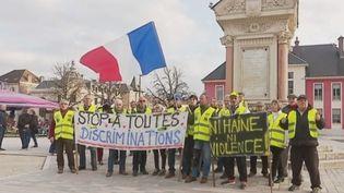 """Dans la soirée du mardi 19 février, les """"gilets jaunes"""" se sont mobilisés lors des manifestations contre l'antisémitisme dans l'Hexagone. (CAPTURE D'ÉCRAN FRANCE 3)"""